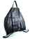Architect Italian Leather Backpack in Black, rear view - Made in Italy