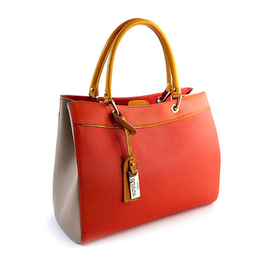 Aria Bag Collection in Pebble Italian leather