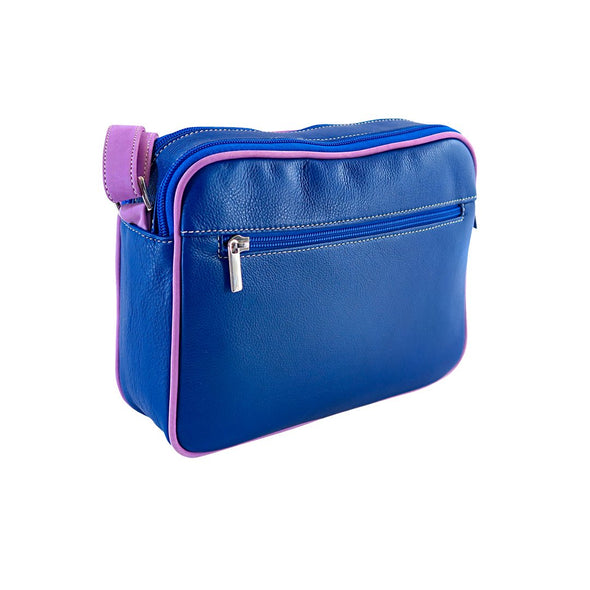 Small Francesca Handbag Collection, Blue Pink, at LUCA Boutique