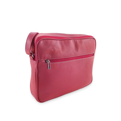 Francesca Italian Handbag Collection, Crossbody purse in Red at LUCA Boutique
