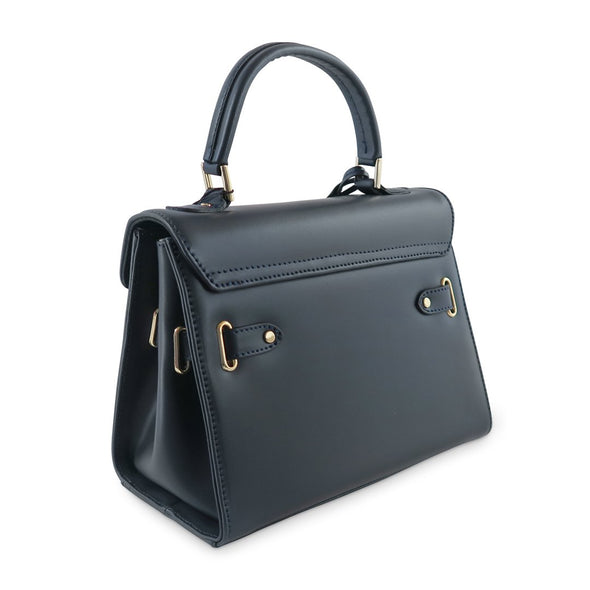 Susan Grace Small Italian Leather Bag, rear of bag - at LUCA Boutique