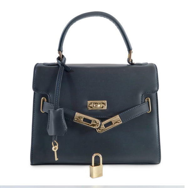 Susan Grace Small Italian Leather Bag, front view - at LUCA Boutique