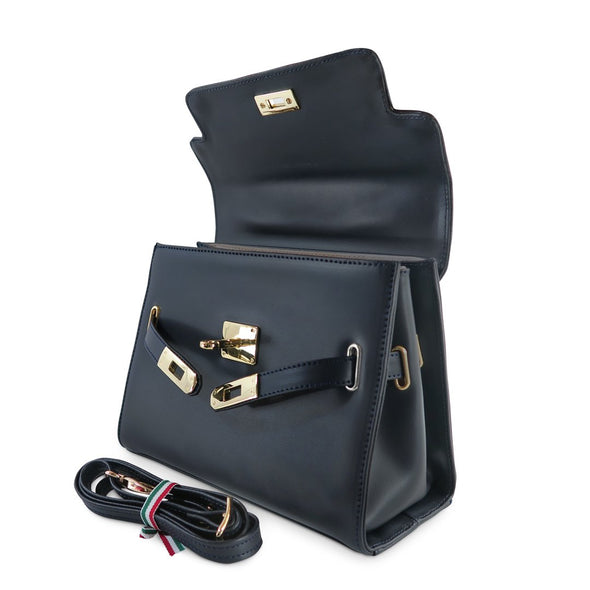 Susan Grace Small Italian Leather Bag, with removable shoulder straps - at LUCA Boutique (2524650831957)