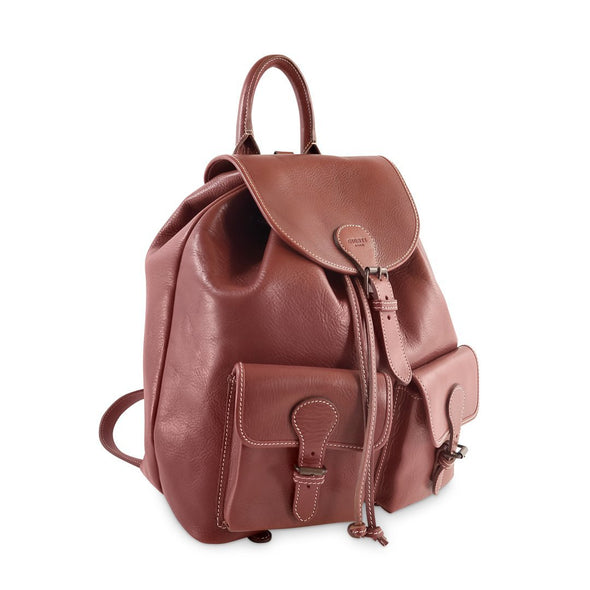 Juno Backpack - Vacchetta leather Made in Rome Italy