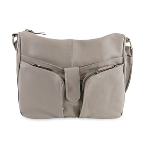 Melania Italian Leather Handbag Collection, Taupe - exclusively at LUCA Boutique (2524678455381)