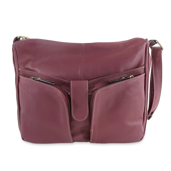Melania Italian Leather Handbag Collection, Burgundy - exclusively at LUCA Boutique (2524678455381)