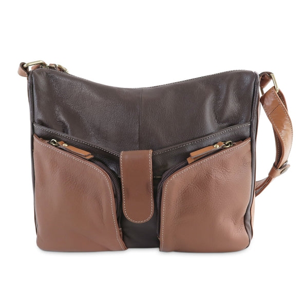 Melania Italian Leather Handbag Collection, Brown - exclusively at LUCA Boutique (2524678455381)