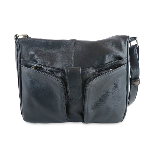 Melania Italian Leather Handbag Collection, Black - exclusively at LUCA Boutique (2524678455381)