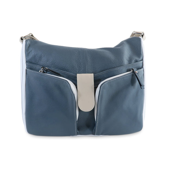 Melania Italian Leather Handbag Collection, Navy - exclusively at LUCA Boutique (2524678455381)