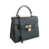 Susan Grace Small Italian Leather Bag in Black - at LUCA Boutique (2524650831957)