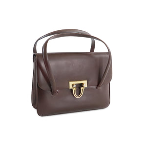 Cleo Vintage Italian Leather Bag in Brown - at LUCA Boutique (2483112345685)