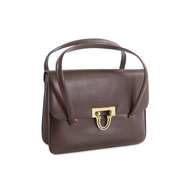 Cleo Vintage Italian Leather Bag in Brown - at LUCA Boutique
