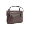 Cleo Vintage Italian Leather Bag in Brown, rear view - at LUCA Boutique (2483112345685)