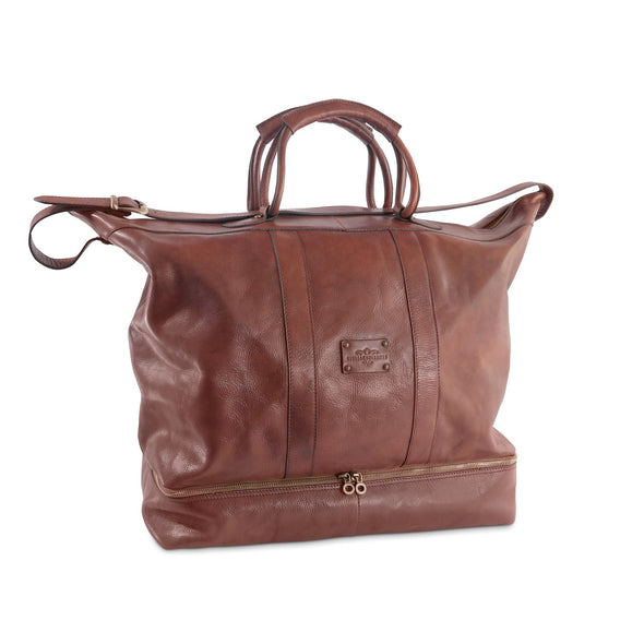 Edward Leather Travel Bag with under-compartment, special order - available exclusively at LUCA Boutique (2483112181845)