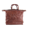 Edward Leather Travel Bag with under-compartment, special order. rear view - available exclusively at LUCA Boutique