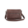 Amoret Italian Leather Bag Collection in Brown, rear view - exclusively at LUCA Boutice