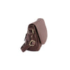 Amoret Italian Leather Bag Collection in Brown, side view - exclusively at LUCA Boutice