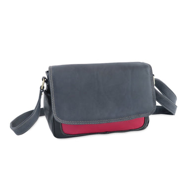 Amoret Italian Leather Bag Collection in Black, Gray and Red - exclusively at LUCA Boutice