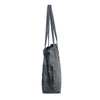 Zilla Italian Leather Tote in Black - exclusively at LUCA Boutique - side view (2483111493717)