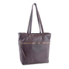 Zilla Italian Leather Tote in Burgundy - exclusively at LUCA Boutique (2483111493717)