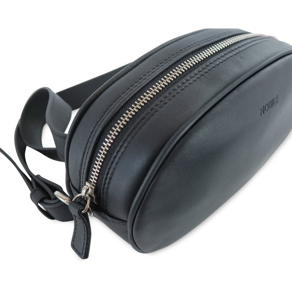 Billy Leather Fanny Pack with removable shoulder strap at LUCA Boutique - top view
