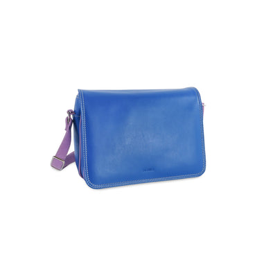 Amila Italian Leather Handbag Collection in Blue - at LUCA Boutique