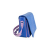 Amila Italian Leather Handbag Collection in Blue, side view - at LUCA Boutique (2524560359509)