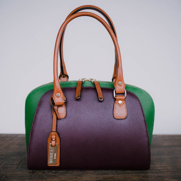 Aurora Collection Italian Leather Satchel