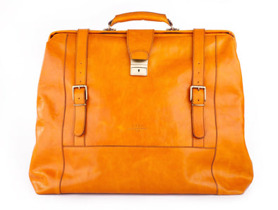 Amerigo Italian Leather Handbag in Yellow - exclusively at LUCA Boutique (2534350454869)