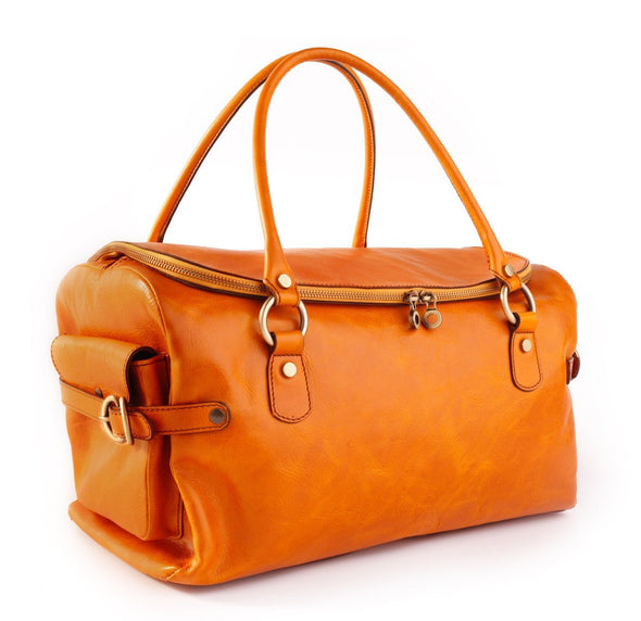 Diana Collection - vegetable tanned leather travel bag carry-on size (2483123748949)
