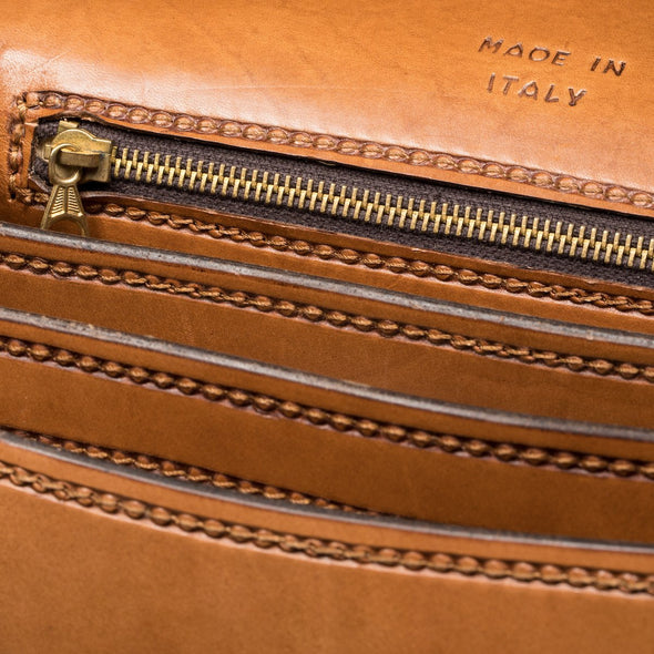 Postina Equestrian Luxury Bag, with carved in leather horses, interior zipper detail - LUCA Boutique (2552823021653)