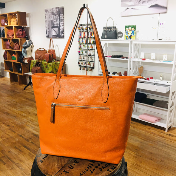 Safira Italian Leather Tote