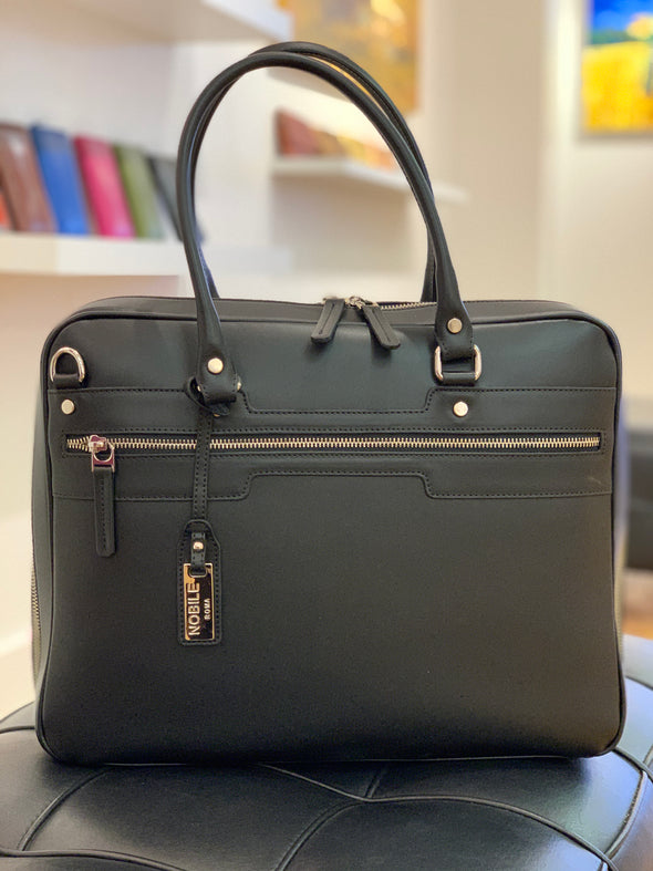 Andrea Italian leather briefcase