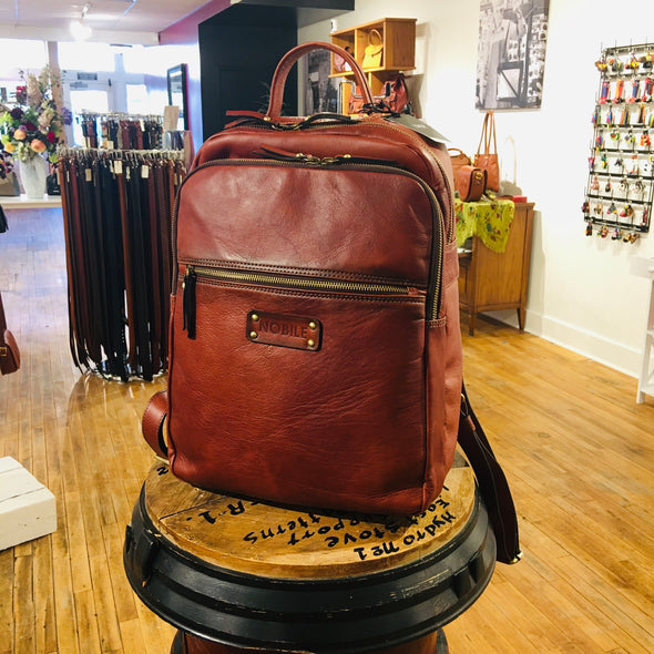 Italian Leather Backpack for man