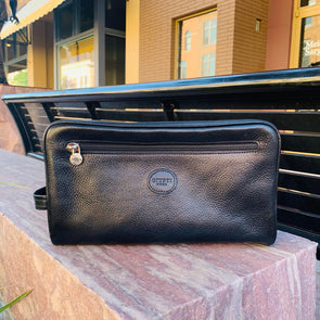 Italian Leather Travel Toiletries Bag