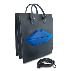 The OS Lips Italian Leather Bag (2483124764757)