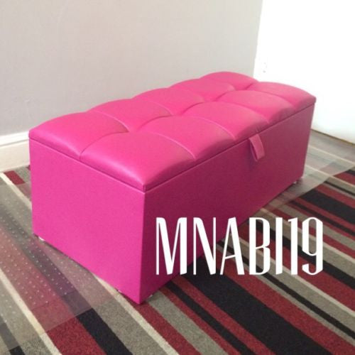 Fine 36Inch 3Ft Cerise Large Faux Leather Ottoman Storage Box Machost Co Dining Chair Design Ideas Machostcouk