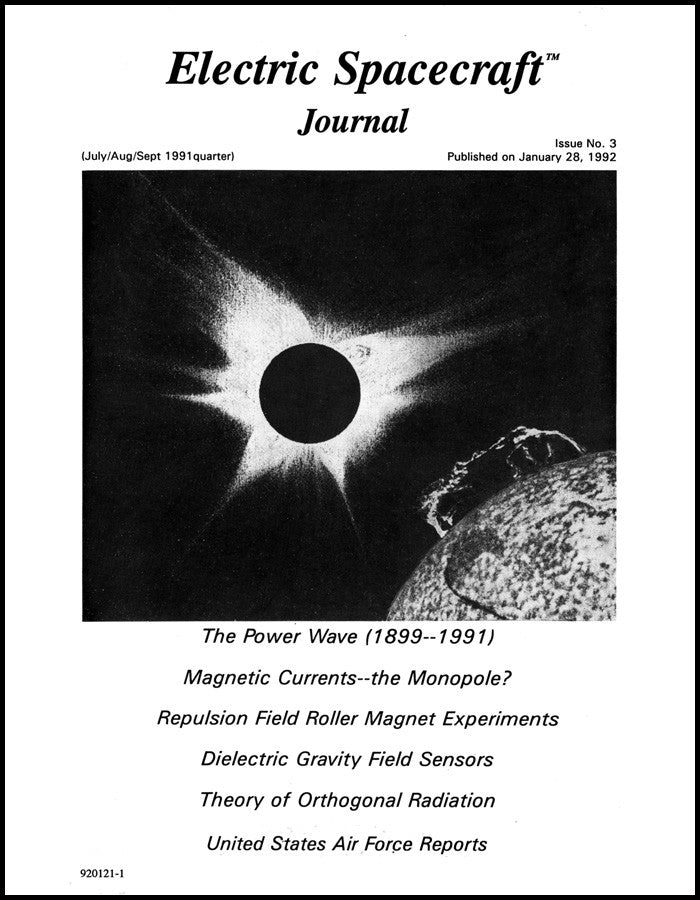 Electric Spacecraft Journal Issue #3