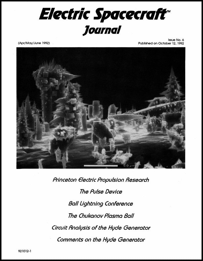 Electric Spacecraft Journal Issue #6