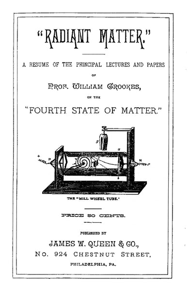 Title page Radiant Matter