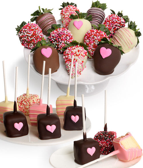 Mother's Day Chocolate Strawberries & Mini-Cheesecakes - 22pc - Chocolate Covered Company®