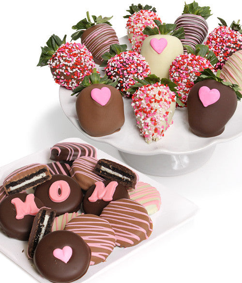 Mother's Day Chocolate Covered Strawberries & OREO® Cookies - 24pc - Golden Edibles