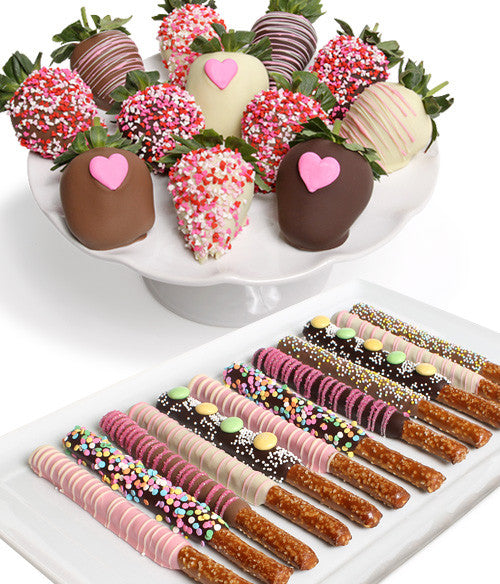 Mother's Day Chocolate Strawberries & Pretzels - 24pc
