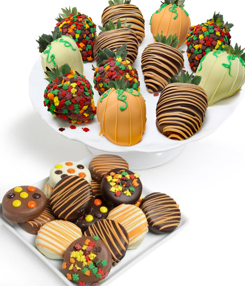 Fall Chocolate Covered Strawberries & OREO® Cookies - 24pc - Chocolate Covered Company®