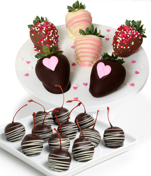 Mother's Day Chocolate Covered Strawberries & Cherries - Golden Edibles