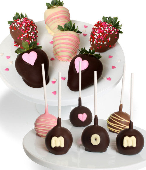 Mother's Day Chocolate Covered Strawberries & Cake Pops