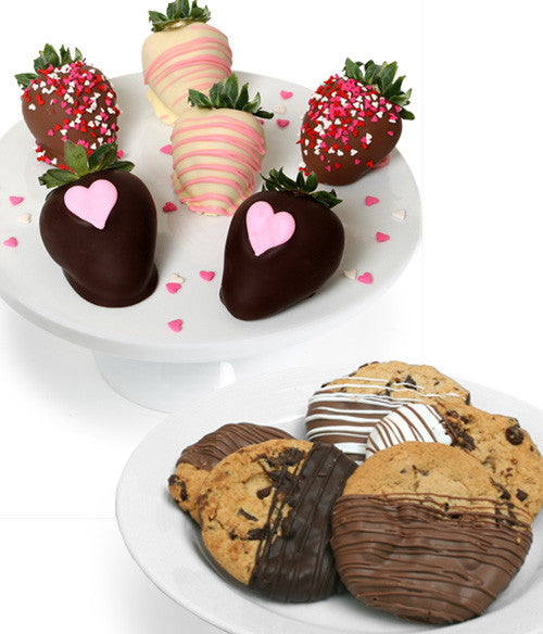 Mother's Day Chocolate Covered Strawberries & Gourmet Cookies
