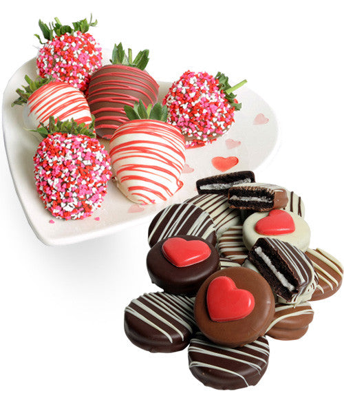 Valentine's Day Chocolate Covered Strawberries & OREO® Cookies