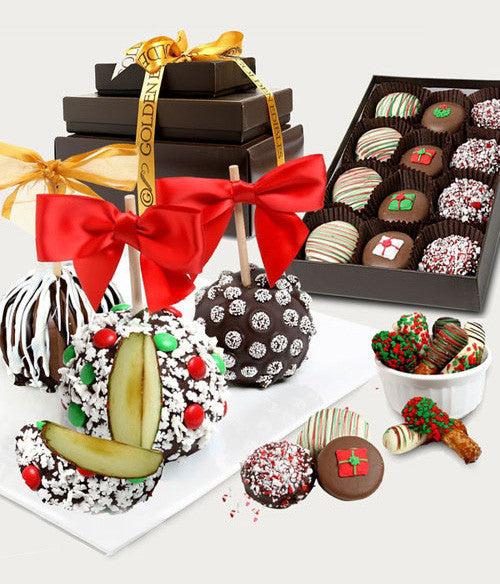 GRAND FESTIVE Belgian Chocolate Gourmet Gift Tower - Chocolate Covered Company®