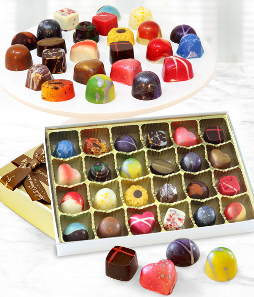 Hand-Painted Artisan Belgian Chocolate Truffles - 24pc - Chocolate Covered Company®